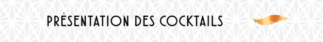 Presentation des cocktails.