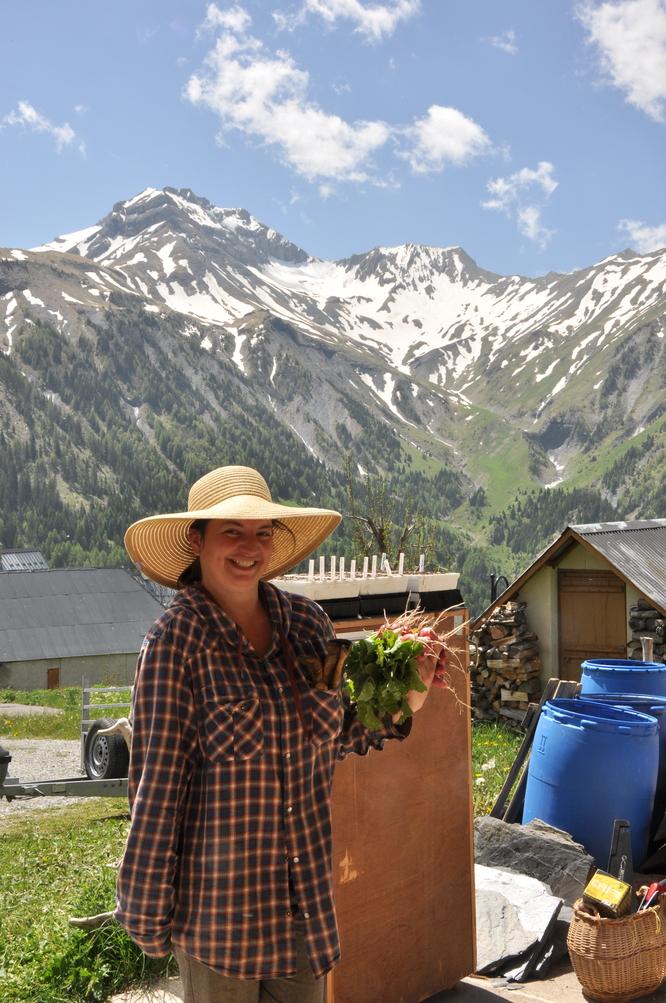 La paysanne montagnarde aux radis