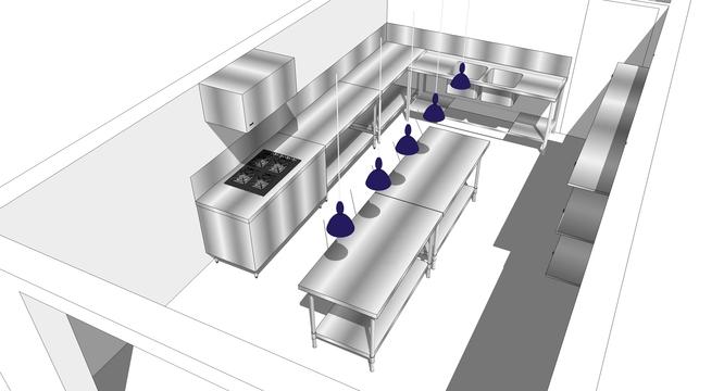 Notre futur atelier de production, conception Sophie ven de Walle