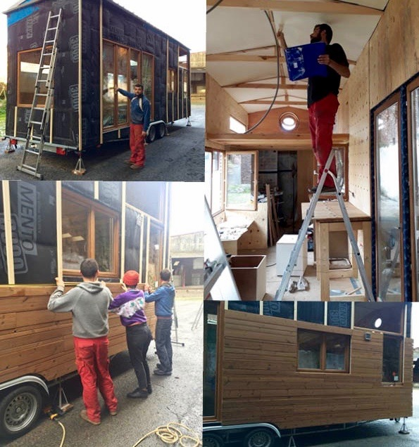 Chantier de la Tiny House
