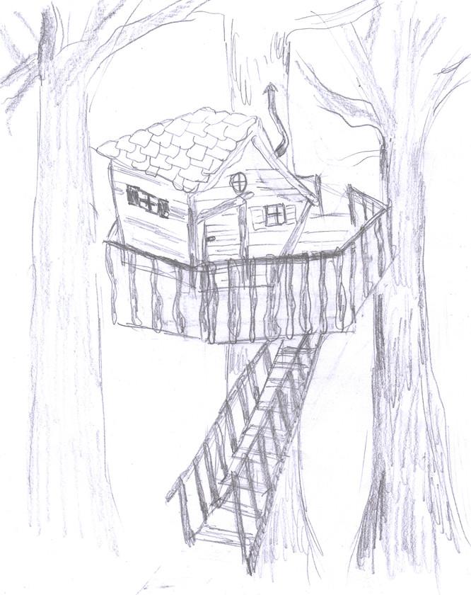 Miimosa cabane dans les arbres sur les traces de - Dessin de cabane ...