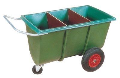 chariot à aliment avec couvercle et séparations