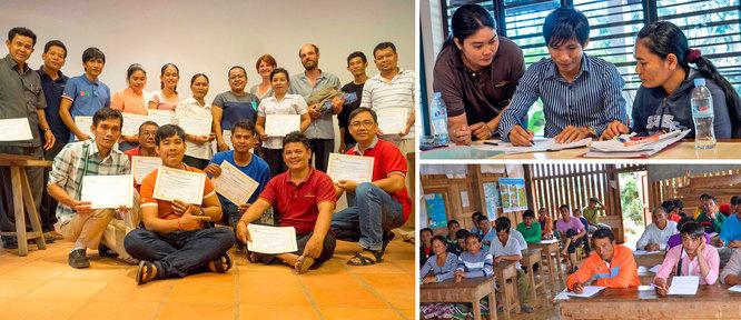 Cycle d'apprentissage (Cambodge) et échange d'expériences entre exploitants (Laos)