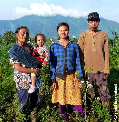Famille de producteurs à Bali