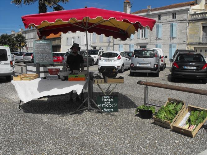 Marché du dimanche matin à Tonnay-Charente