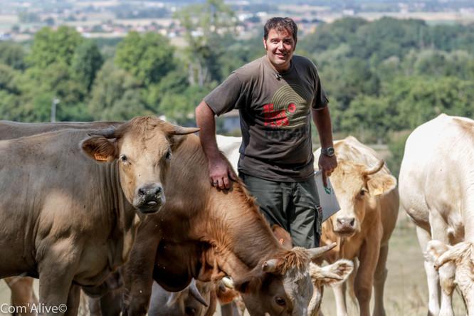 Jean-Gabriel Fauvet-Messat: éleveur de bovins