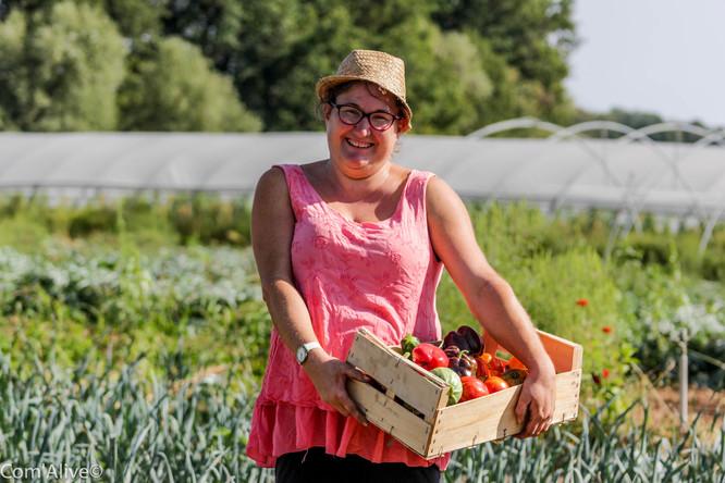 Delphine Chemin: maraichère en agriculture biologique