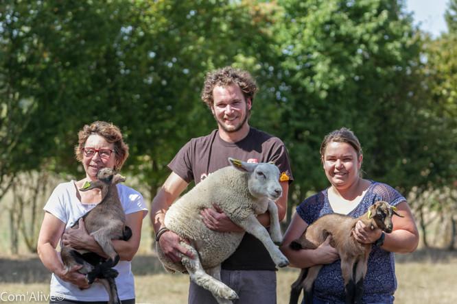 Christine Gaillard, Valentin et Justine Broyer: fromages