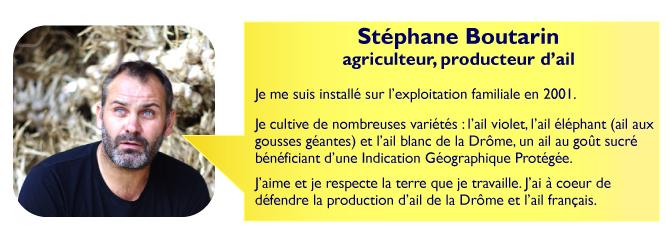 Présentation stéphane boutarin, agriculteur