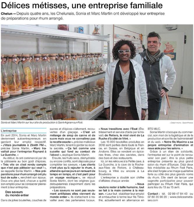Articles Ouest France - Février 2019