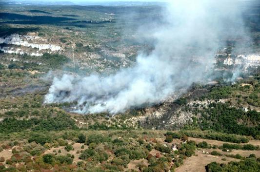 Source : Pompiers du Lot, Incendie de Cajarc Eté 2018