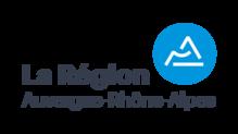 Logo regionara partenaire typo gris pastille bleu