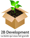 Logo 2b development quadri