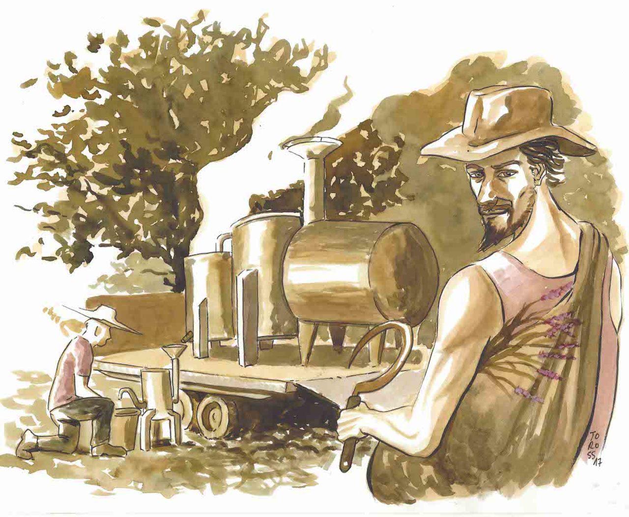 Dessin distillerie